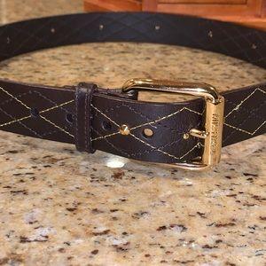 Michael By Michael Kors Leather Womens Belt Size L